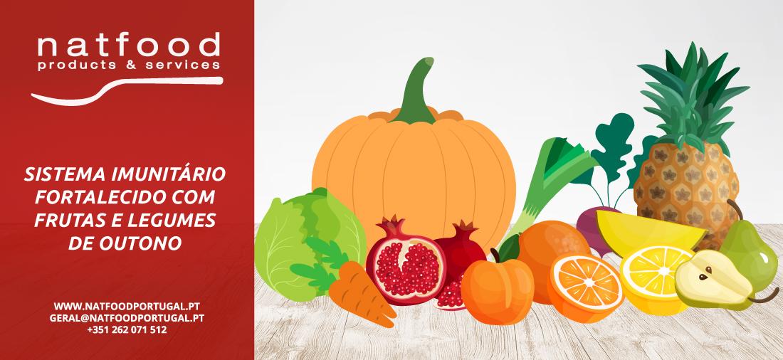 Sistema imunitário fortalecido com frutas e legumes neste outono